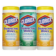 Clorox; Disinfecting Wipes, 35 Wipes Per Tub, Pack Of 3 Tubs