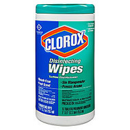 Clorox; Disinfecting Wipes, Fresh Scent, 75 Wipes Per Tub, Box Of 6 Tubs