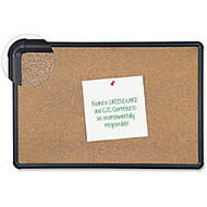 Balt Eco-friendly Black Splash Cork Board - 48 inch; Height x 96 inch; Width - Natural Cork Surface - Black Anodized Aluminum Frame - 1 Each