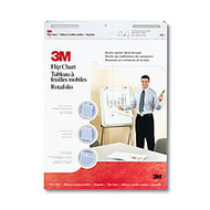 3M™ Bleed Resistant Flip Charts, 25 inch; x 30 inch;, White, 40 Sheets Per Pad, Pack Of 2 Pads