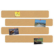 FORAY™ 10 inch; Cork Bulletin Bars, Pack Of 4