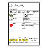 Best-Rite; Patient Room Dry-Erase Communication Board, Lay-Out B, 48 inch; x 36 inch;, White Frame