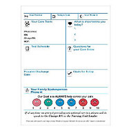 Best-Rite; Patient Room Dry-Erase Communication Board, Lay-Out C, 36 inch; x 24 inch;, White Frame