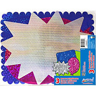ArtSkills; 60% Recycled Pre-Cut Sparkle Boards, 11 inch; x 14 inch;, Assorted Colors, Pack Of 3