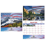 American Heartland 12-Month Wall Calendar, 9 5/8 inch; x 11 inch;, Spiral Binding, American Scenes