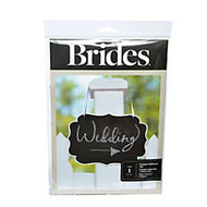 BRIDES; Chalkboard Sign, 11 3/8 inch; x 7 1/2 inch;, Black/White