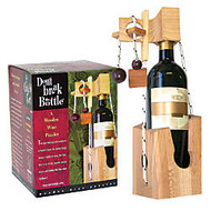 Don't Break The Bottle™ Wood Wine Puzzle, 7 inch;H x 5 inch;W x 5 inch;D, Brown