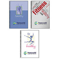 Food And Fitness Journal Book, 6 inch; x 9 inch;, 50 Sheets