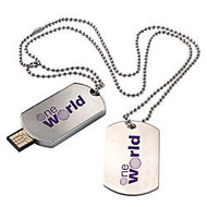Dog Tag USB 2.0 Flash Drive, 1GB
