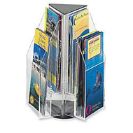 6-Pocket Pamphlet Rotating Tabletop Display, Triangular, 12 3/4 inch;H x 9 3/4 inch;W