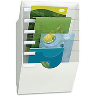 CEP Crystal Dividers Wall Display Rack - 6 Compartment(s) - 5 Divider(s) - Wall Mountable - White - Polystyrene - 1Each