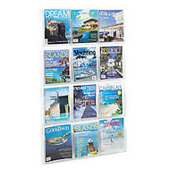 Clear Literature Rack, Magazine, 12 Pockets