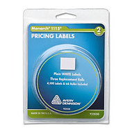 Monarch Pricemarker Labels - 4.11 inch; Width x 3.14 inch; Length - 3 / Roll - White - 3 / Pack
