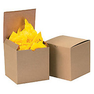 Box Packaging Kraft Gift Boxes, 6 inch; x 6 inch; x 4 inch;, Case Of 100