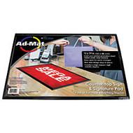 Artistic AdMat Counter Mat, 13 inch; x 19 inch;, Black