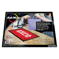 Artistic AdMat Counter Mat, 8 1/2 inch; x 11 inch;, Black