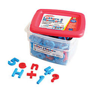 AlphaMagnets; & MathMagnets;, Red And Blue, Pack Of 214