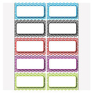 Ashley Productions Die-Cut Magnetic Nameplates, Color Chevron, 3 inch;H x 1 1/2 inch;W x 1/16 inch;D, Assorted Colors, 10 Nameplates Per Pack, Set Of 5 Packs