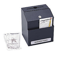 Safco; Steel Suggestion Box, 8 1/2 inch;H x 7 1/8 inch;W x 6 inch;D, Black