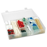 Unimed Solvent-Resistant Infinite Divider Storage Box, 6-12 Compartments, 1 3/4 inch;H x 11 inch;W x 6 3/4 inch;D