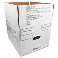 40% Recycled Storage Box, 14 3/4 inch; x 12 inch; x 9 1/2 inch;D, Carton Of 25 (AbilityOne 8115-00-117-8249)