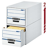 Bankers Box; Stor/Drawer; File, 23 1/4 inch; x 12 1/2 inch; x 10 3/8 inch;, Letter Size, 60% Recycled, Blue/White