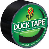 Duck Colored Duct Tape - 1.88 inch; Width x 60 ft Length - 1 / Roll - Black