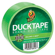 Duck High-Performance Color Duct Tape - 1.88 inch; Width x 45 ft Length - 1 / Roll - Neon Green