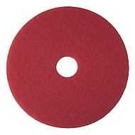 3M 12 inch; Buffer Pads, Red, Box Of 5