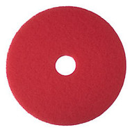 3M 16 inch; Buffer Pads, Red, Box Of 5