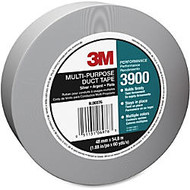 3M Multi-Purpose Duct Tape - 1.88 inch; Width x 60 yd Length - 3 inch; Core - Polyethylene Coated Cloth Backing - Easy Tear, Reinforced, Laminated - 24 Roll - Silver