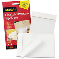 3M Scotch Label Protection Tape Sheet - 4 inch; Width x 6 inch; Length - Polypropylene Backing - 2 / Pack - Clear