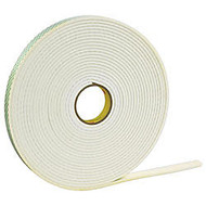 3M™ 4016 Double Sided Foam Tape, 1 inch; x 36 Yd, Natural, Case Of 9