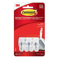 3M™ Command™ Damage-Free Wire Hooks, Small, Pack Of 3