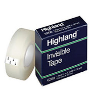 3M™ Highland™ 6200 Invisible Tape, 3/4 inch; x 1296 inch;