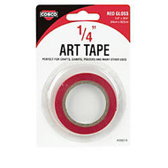 COSCO Art Tape, 1/4 inch;W, Gloss Red