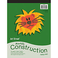 Art Street; 100% Recycled Construction Paper Pad, 9 inch; x 12 inch;, Marble Assorted, Pad Of 50 Sheets
