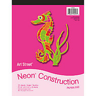 Art Street; Construction Paper Pad, 9 inch; x 12 inch;, Assorted, Pad Of 20 Sheets