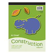 Art Street; Construction Paper Pad, 9 inch; x 12 inch;, Assorted, Pad Of 48 Sheets