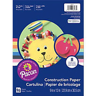 Art Street; Construction Paper, 9 inch; x 12 inch;, Assorted Colors, Pack Of 96