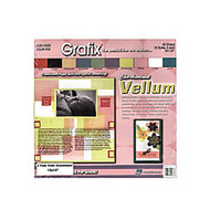Grafix Translucent Vellum, 12 inch; x 12 inch;, Assorted, Pack Of 40 Sheets