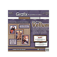 Grafix Translucent Vellum, 12 inch; x 12 inch;, Deluxe Assorted, Pack Of 40 Sheets