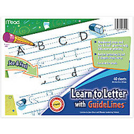 Academie Jr.™ Learn To Letter With Guidelines Tablet, 8 inch; x 10 inch;, 40 Sheets