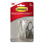 3M™ Command™ Damage-Free Hook, Designer, Medium, Brushed Nickel