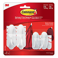 3M™ Command™ Designer Hooks, Assorted Sizes, Pack Of 4