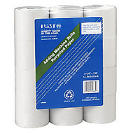 NCR Single-Ply Paper Rolls, 2 1/4 inch; x 1800 inch;, 70% Recycled, White, Pack Of 12