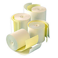 Office Wagon; Brand 2-Ply Paper Rolls, 2 1/4 inch; x 100', Canary/White