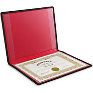 Anglers Diploma and Certificate Holder - 12 inch; x 9 inch; Sheet Size - 2 Internal Pocket(s) - Polypropylene - Black - 1 Each
