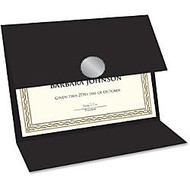 Geographics Double-fold Certificate Holder - Black - Recycled - 5 / Pack