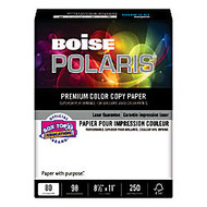 Boise Polaris; Color Copy Paper, Letter Size Paper, 98 Brightness, 80 Lb, White, Pack Of 250